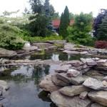 Ogród Kraków, ul.Cechowa - oczko wodne